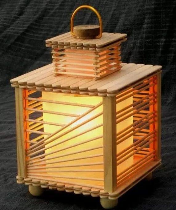 Lampu Hias dari Stik Es Krim