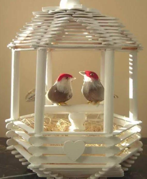 Sangkar Burung dari Stik Es Krim