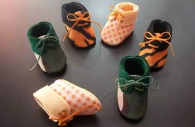 Sepatu Bayi Lucu dari Kain Flanel